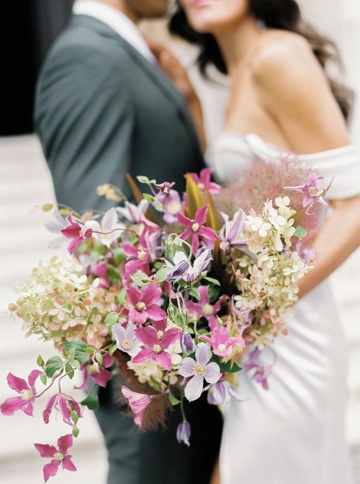 alon livne white wedding dress sold at VIVIENNE Paris bridal store in Paris, France.